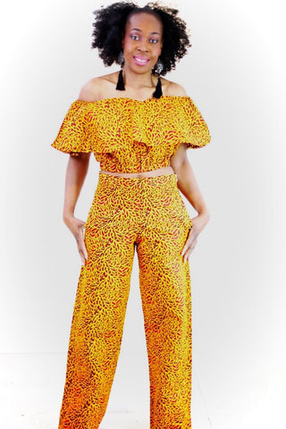 New in 2 piece African Print Ankara Trouser Set - African Clothing from CUMO LONDON