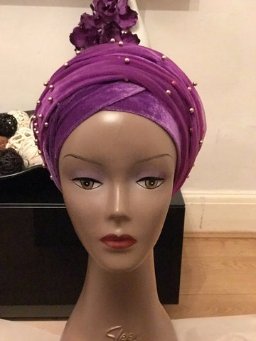 Beaded Turban - Single Hand