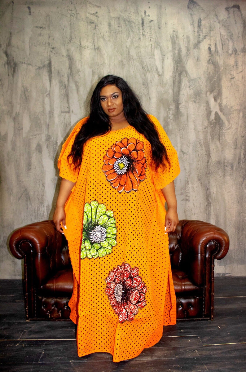 African Women Clothing One Size Fits All Embellished Lace