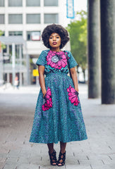 New in Nora African Ankara Print Crop Top and Skirt Set - African Clothing from CUMO LONDON