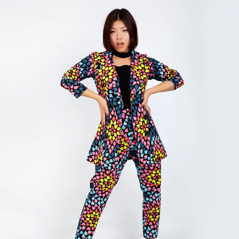 New In ONNA African Ankara Print Jacket and Trouser Set - African Clothing from CUMO LONDON