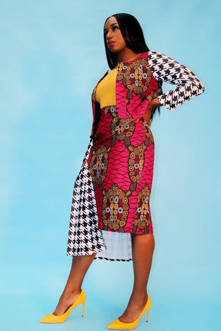 New in SOOMACHI African Ankara Print Jacket and Skirt Set