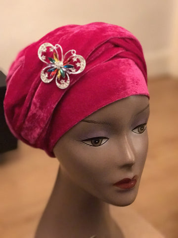 Plain Turban - Double Hand - African Clothing from CUMO LONDON