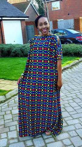African Fashion Bubu Maxi Dress - One Size Fits All