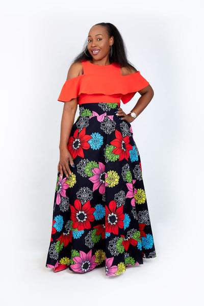New in - African Print Ankara Maxi Skirts - African Clothing from CUMO LONDON