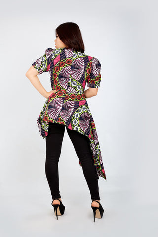 New In - Zuriel African Print Ankara Long Top