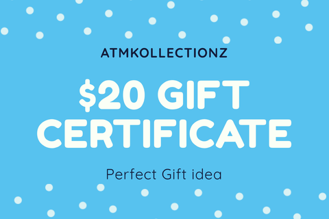 US $20 Gift Card - ATMKollectionz