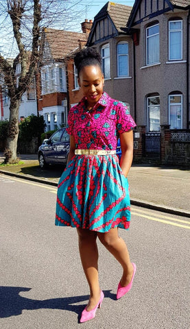 New In African Print Ankara Tea Dress