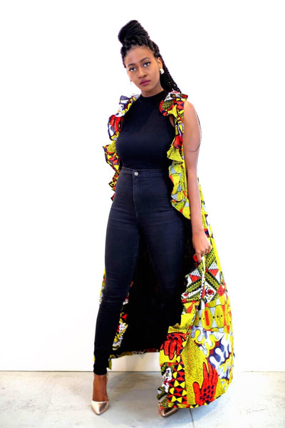 New in African Dutch wax Ankara Print Duster Kimono Set - African Clothing from CUMO LONDON