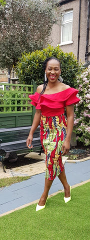 New in African Print Ankara Smoky Bodycon Pencil skirts - African Clothing from CUMO LONDON
