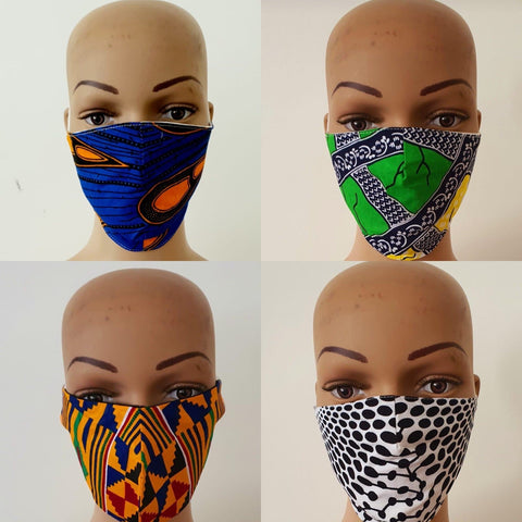 Bundle Offer - Reuseable Face Mask | African print Cotton Face Masks - African Clothing from CUMO LONDON