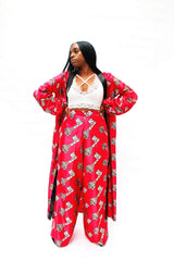 Cece Kimono Set in African Print Ankara Silk - ATMKollectionz