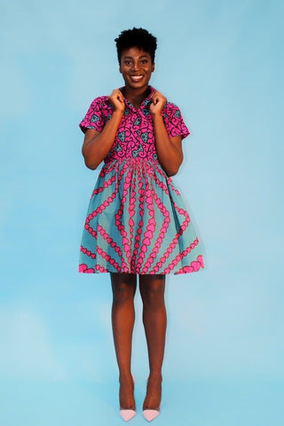 New In African Print Ankara Tea Dress - African Clothing from CUMO LONDON