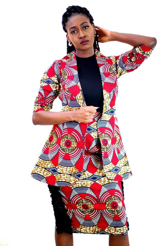New in African Print Ankara Jacket / Boyfriend Jacket/ outerwear - ATMKollectionz