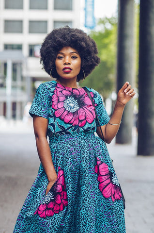 New in Nora African Ankara Print Crop Top and Skirt Set - ATMKollectionz