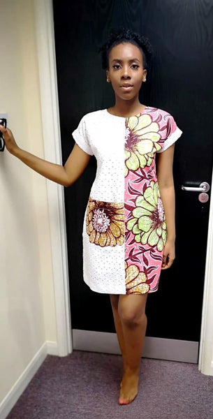 African Ankara Print Shift Dress - African Clothing from CUMO LONDON