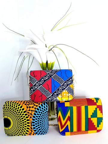 New In African Ankara Wax Print Shoulder Bag