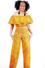 New in 2 piece African Print Ankara Trouser Set - ATMKollectionz