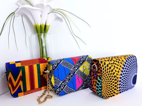 New In African Ankara Wax Print Shoulder Bag - ATMKollectionz
