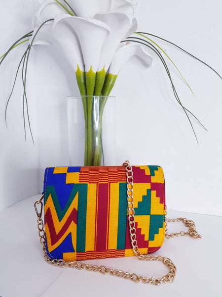 New In African Ankara Wax Print Shoulder Bag - African Clothing from CUMO LONDON
