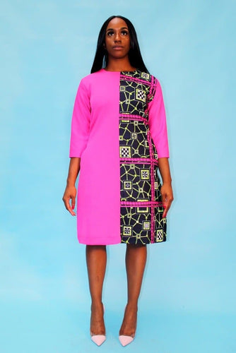 African Print Ankara Combo Pencil Dress