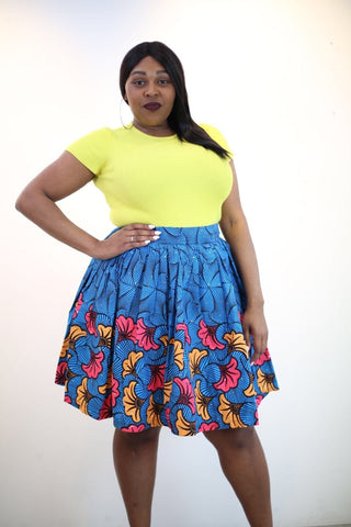 New in African Ankara Print Mini Skirt - African Clothing from CUMO LONDON
