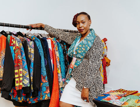 New in African Print Ankara Midi Reversible Jacket
