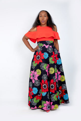 New in - African Print Ankara Maxi Skirts - ATMKollectionz