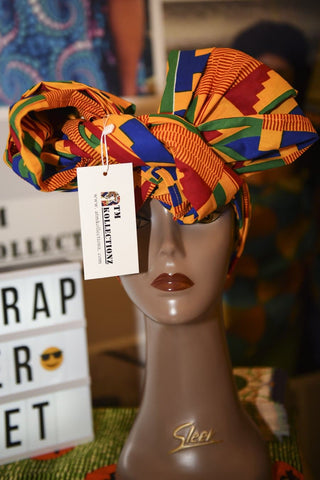 New In African Ankara Print Headwrap/Wax Print Scarf - ATMKollectionz