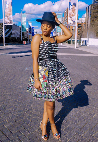New in African Print Summer Shift Mini Dress - Black - ATMKollectionz