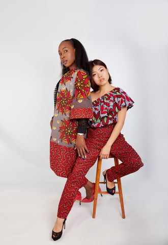 New in - Erikka African Print Ankara Pencil Trousers - African Clothing from CUMO LONDON