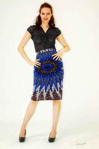 African Print Ankara batik Pencil skirts - African Clothing from CUMO LONDON