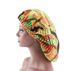 New In Extra large Satin Lined Bonnets in African Wax Print / Ankara Bonnets - African Clothing from CUMO LONDON