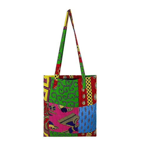 New In - African Print Handmade Traditional Ankara Kente Print Tote Bag with Lining