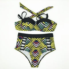 African Queen Sexy Bikini Set / African Print Push Up Bra Swimwear in  Plus Size - ATMKollectionz
