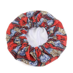 New In Extra large Satin Lined Bonnets in African Wax Print / Ankara Bonnets - ATMKollectionz