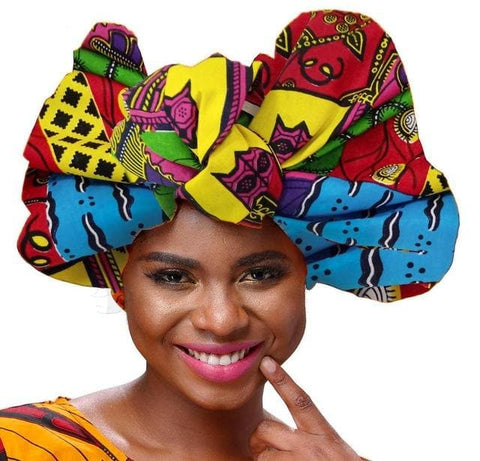 African Print Headwrap / Headtie - African Clothing from CUMO LONDON