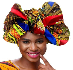 Kente African Print Headwrap / Headtie - Options available - African Clothing from CUMO LONDON