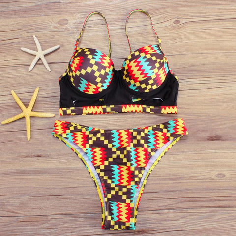 African Print bikinis Set - African Clothing from CUMO LONDON