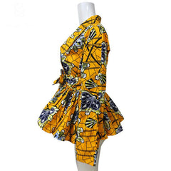 African Print ankara Women long sleeves jacket - African Clothing from CUMO LONDON
