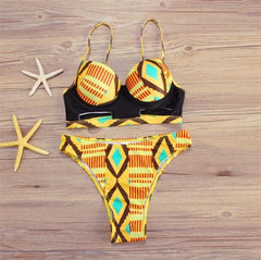 New in African Print High Waist Swimsuit 2 piece Bikini Set - ATMKollectionz