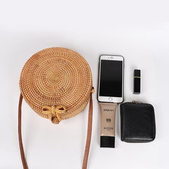 Handwoven Summer Rattan Bag Beach Cross Body Bag - African Clothing from CUMO LONDON