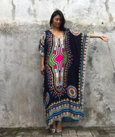 African Print Cover-ups Beach Tunics - ATMKollectionz