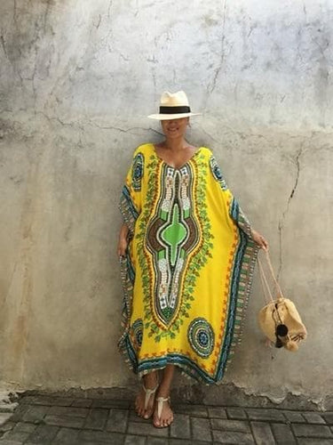 African Print Cover-ups Beach Tunics