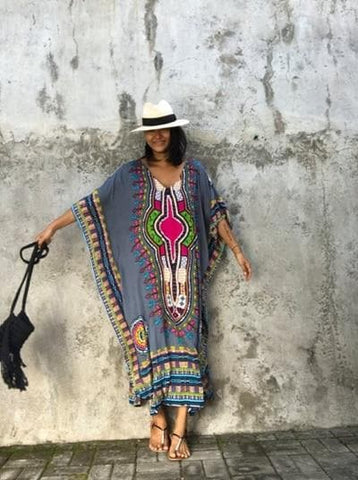Danshiki  African Print Dress for the perfect beach accessory