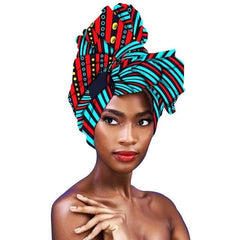 New In African Ankara Print Headwraps/Scarf - ATMKollectionz