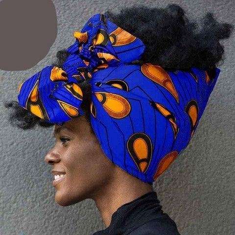 New In African Ankara Print Headwrap/Headtie - ATMKollectionz