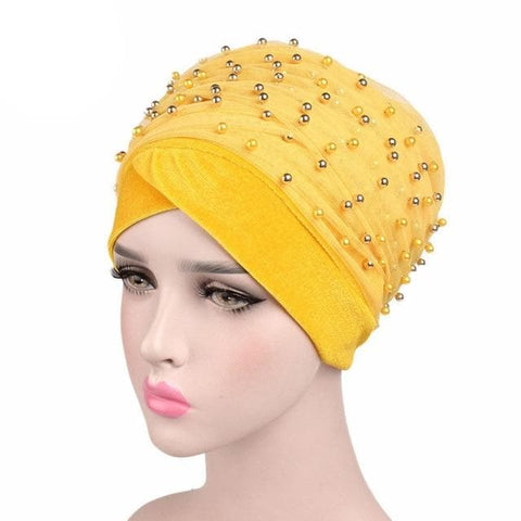 Beaded Mesh Velvet Head wrap ( Extra Long Scarf) - African Clothing from CUMO LONDON