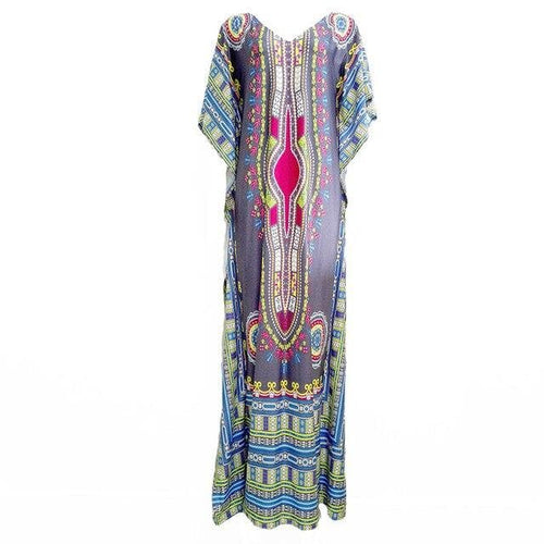 African Print Cover-ups Beach Tunics  - Dashiki Kaftan Beach Dress