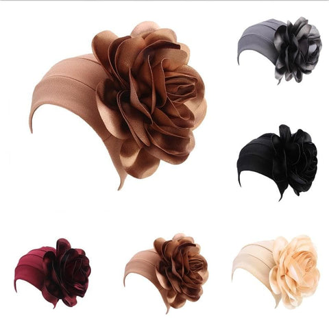 3D Big Petal/Flower Turban Head Cover  (Cap)